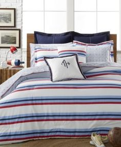 tommy hilfiger bedding bath collections macy s from Tommy Hilfiger Bed SheetsTommy Hilfiger Bed Sheets - There's one ar Boys Bedding Sets, Sports Bedding, Cool Comforters, Pottery Barn Teen Bedding, Twin Xl Comforter, Superhero Room, Mattress Brands, Bedding Collections, Stripes Design