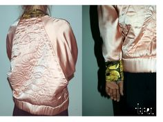 Hand quilted bomber by Roxana Benea