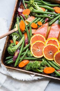 Orange Sesame Sheet Pan Salmon Recipe!