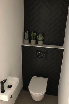Small Downstairs Toilet, Small Toilet Room, Guest Toilet, Downstairs Bathroom, Small Bathroom Interior, Bathroom Design Small, Small Toilet Design, Modern Toilet Design, Toilet Room Decor