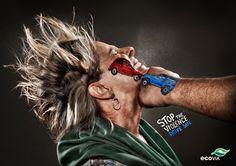 Stop the Violence: campagna sociale sui rischi della strada - Guida sicuro #grafica #outdoor #adv #socialcampaign