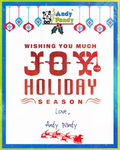 From your #AndyPandy family, may you have a wonderful and meaningful Christmas!!! :))) #MerryChristmas #HappyHolidays