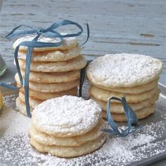 Vegan Lemon Cookies: These have a wonderful lemony flavor. Have to be careful not to overcook, as they don't really brown in the oven as you'd expect.