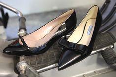 #Gucci and #Prada, black kitten heel pumps. Autumn winter 2013. www.wunderl.com