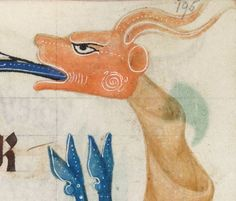 Detail from The Luttrell Psalter, British Library Add MS 42130 (medieval Medieval Manuscript, Medieval Art, British Library, Dragons, Ms, Moose Art, Miniatures, Detail, Illustration