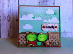2 Cute Ink Digital Stamps Challenge Blog- cute card made by DT Member Martha using Country Turtle Couple Digital Stamp.