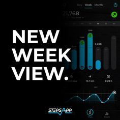 Brand new in StepsApp is the week view. 📊 Now you can analyze your week at any time and have 7 days at a glance. 👀 #StepsApp #WeekView #StepCounter  #health #motivation #weightloss #smartwatch #fitnesswalking #fitnesstracker #gpswatch #smartwatches Apple Watch Fitness, Track Your Steps, Apple Health, App Share, Daily Goals, Gps Tracking, Design Language, Daily Activities