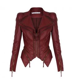Leather Motorcycle Casual Solid Coats & Jackets for Women Mode Outfits, Fashion Outfits, Womens Fashion, Mode Rock, Forever Unique, Cooler Look, Winter Mode, Blazer Jacket, Moto Jacket