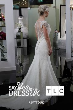 Lace applique detail to die for!  'Like' if you'd say Yes to this dress. Say Yes To the Dress UK, Fridays at 9pm on TLC! #SYTTDUK