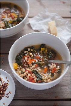 Turkey, Kale, and Sorghum Soup // www.80twenty.ca #glutenfree