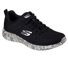 Strike quickly in style and comfort with the SKECHERS Burst - Be Brave shoe. Skech-Knit Mesh fabric upper in a lace up fashion athletic comfort sneaker with interwoven, nearly seamless design. Comfortable Sneakers, Athletic Fashion, Sporty Style, Tabata, Canvas Fabric, Mesh Fabric, Shoe Box, Skechers, Brave