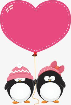 Purple Penguin Balloon Gratis PNG y Clipart Valentines Day Poems, Valentines Day Drawing, Valentines Greetings, Vintage Valentine Cards, Balloon Clipart, Mickey Mouse Images, Diy Holiday Cards, Purple Balloons, Penguin Love