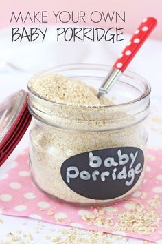 Making your own baby porridge or baby oatmeal is super easy and a much cheaper…