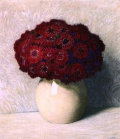 Figurative Kunst, Red Art, Aster, Beautiful Birds, Red Flowers, Art Images, Flower Art, Painting & Drawing, Still Life