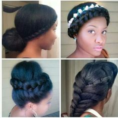 Tammy's styles on her blown-out natural hair.