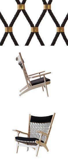 Hans J. Wegner PP 129 - Web Chair Web chair PP129 is designed by Hans J. With the playful and abundant arm rests you will immediately sense Wegner's joy of shaping solid wood. #PPMobler #HansJWegner