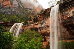 Emerald Pools Trail waterfalls, Zion National Park