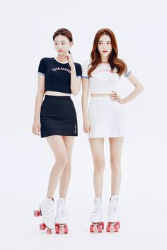 Side Love Embroidered With Slit Mini Skirt  | Korean Fashion #CHUU