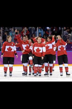 Congratulations to my Canadian hockey girls! What a win today!  4th consecutive Gold Medal in the olympics (: