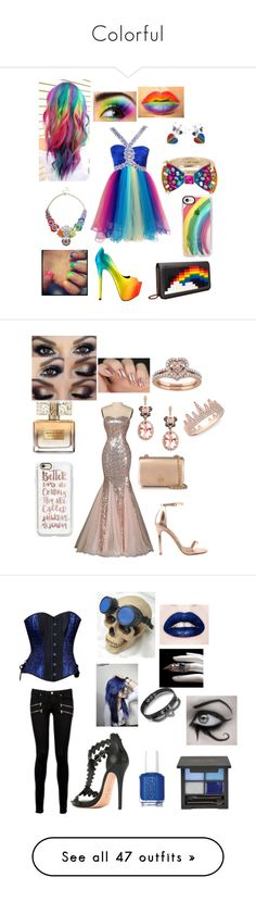 """""""Colorful"""" by otakugurl77 ❤ liked on Polyvore featuring Liquorish, TaylorSays, Casetify, Betsey Johnson, Les Petits Joueurs, pride, Givenchy, Liliana, Effy Jewelry and Tory Burch"""