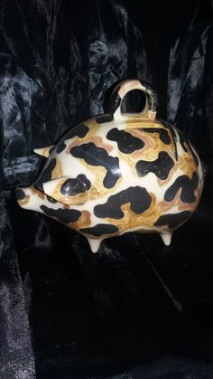 Aidens camo piggy bank. made on order. Wanted browns in his camo.