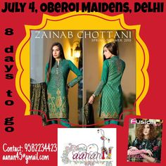 8 days to go for #Aanann - #Fashion and #Lifestyle #exhibition that brings to you the best of #apparel, #jewellery, #bags, #footwear, #accessories and #home #decor #products under one roof. Block your dates On #July 4, 2015 at #Oberoi #Maidens, Civil lines, New #Delhi. For more information, contact 9582234423 or email at aanan45@gmail.com.