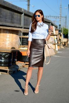 72a7d577a19 16 Best Brown leather skirt images
