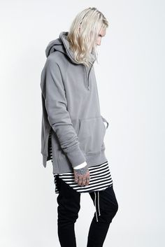 Fear of God L/S Half Zip Essential Hoodie