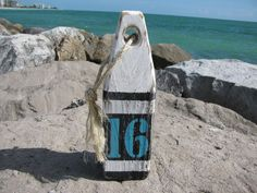 Wood Buoy. Wooden Buoys. Handmade Nautical Decor. Beach Decor. Lake Decor Made to order.beach signs by Pier22DesignStudio on Etsy https://www.etsy.com/listing/243307466/wood-buoy-wooden-buoys-handmade-nautical