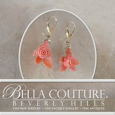 Bella Couture® - SOLD! - (ANTIQUE) Rare Georgian Victorian Carved Rose Flower