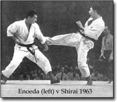 The Shotokan Tiger Tora Enoeda stands out among Karate Legends. He was a Karate Master with awesomely powerful Karate technique and one of the most charismatic figures in Shotokan Karate History. Kenpo Karate, Kyokushin Karate, Shotokan Karate, Martial Arts Techniques, Self Defense Techniques, Karate Kumite, Self Defense Moves, Fighting Poses, Chinese Martial Arts