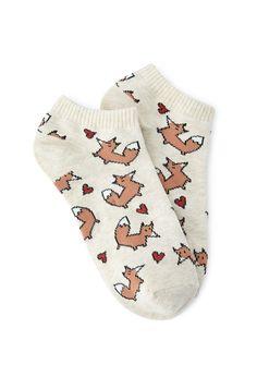 Fox Heart Ankle Socks | FOREVER21 - $1.50