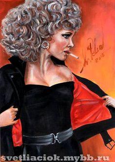 #OliviaNewtonJohn #moviestar #GREASE #оливияньютонджон #кинозвезда #бриолин #Art #portrait #svetliaciok #OliviaNewtonJohnArt #портрет #рисунок #фильм #movie