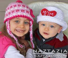Crochet Valentine's Day Hats
