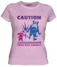 Camiseta Caution Toxic Kids por Loku - Disney - Camisetas Dibujos Animados - Fanisetas - Peligro en