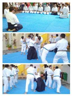 Aquecimento antes de dar início as aplicações de aikido.