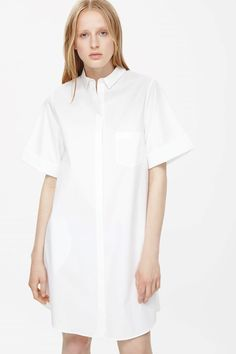 Cuffed shirt dress  cos 2015