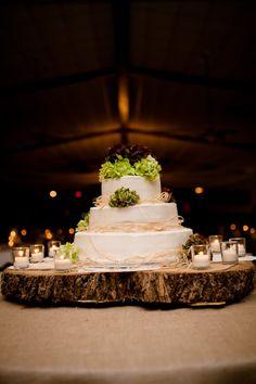 simple, elegant, rustic wedding cake