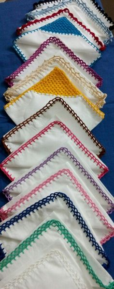 Hankies with crochet edging