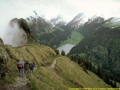 Hiking in Switzerland...don't know if I could do it though, given my slight fear of heights :)