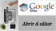 Google Sites Clásico 2017 - Abrir el editor (español)