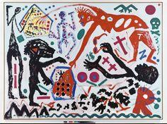 La mort de A.R. Penck, le peintre des cavernes et des esprits