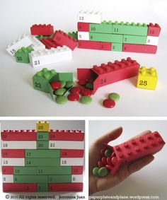 Lego-inspired Advent Calendar Treat Boxes