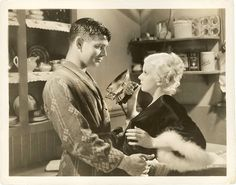 Portrait of Jean Harlow and Clark Gable from Hold Your Man.