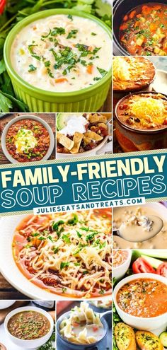 No need to worry about the cold winter day getting you down! This roundup of family-friendly soups has got you covered. Not only are these simple recipes quick and easy to make, but they are also delicious. Nothing can warm you up like a hot bowl of comfort food! Easy Soup Recipes, Simple Recipes, Yummy Recipes, Dinner Entrees, Dinner Recipes, Dinner Ideas, Crockpot Chicken And Noodles, Quick Meals, Family Meals