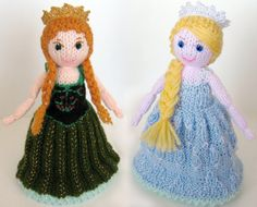 """Traditional toy Anna and Elsa topsy-turvy doll from Disney's movie """"Frozen"""". Made to order"""