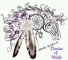 Beautiful tribal horse design