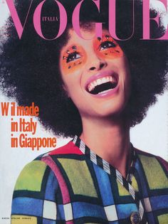 "Vogue Italia November 1990 : Christy Turlington by Steven Meisel ""Interprete principale Christy"" Model: Christy Turlington Photographer: Steven Meisel Stylist: Carlyne Cerf de Dudzeele Hair: Garren Makeup: François Nars"