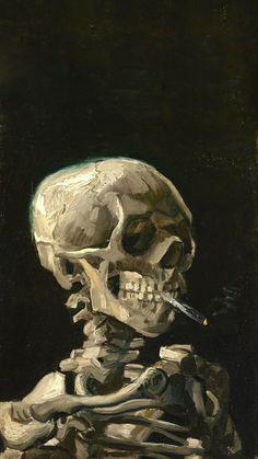 Ideas For Art Painting Classic Vincent Van Gogh Collage Des Photos, Collage Art, Art Sketches, Art Drawings, Skeleton Art, Skeleton Head Drawing, Skeleton Flower, Mermaid Skeleton, Skeleton Anatomy