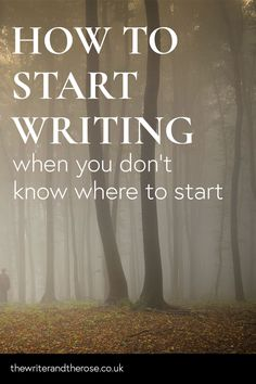 Stuck on how to start writing? Whether it's getting your bum in the chair, or kn. - Stuck on how to start writing? Whether it's getting your bum in the chair, or knowing what the hell to write about, you're not alone.